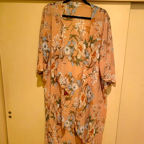 Shein floral cover up 1XL